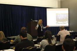 """Professor Lisa Harrington opens the 2013 Essentials Course presenting """"Looking Ahead at 3PL Supply Chain."""""""